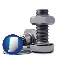 in map icon and screws, nuts, and washers