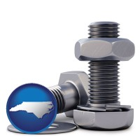 nc map icon and screws, nuts, and washers