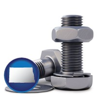 nd map icon and screws, nuts, and washers