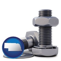 ne map icon and screws, nuts, and washers
