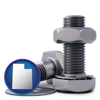 ut map icon and screws, nuts, and washers
